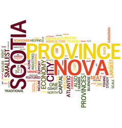 The beautiful nova scotia text background word vector
