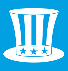 Uncle sam hat icon white vector