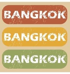Vintage Bangkok stamp set vector image