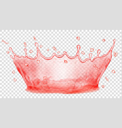 water crown splash of water transparency only in vector image vector image