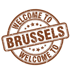 Welcome to brussels vector
