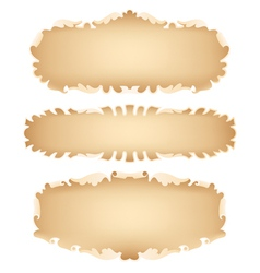 Old scroll set vector image