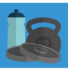 Weight and water bottle concept vector