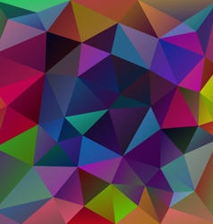 neon multi colored polygon triangular pattern vector image