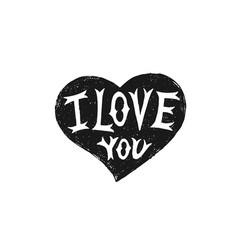 valentines day hand drawn heart with type design vector image