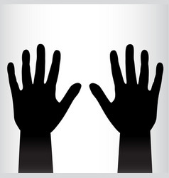Pair of black hands background vector