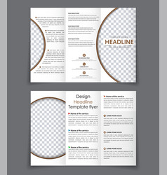 Design folding brochures with brown elements vector