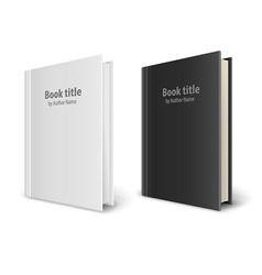 Books templates with white vector image