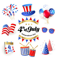 4th july independence day of united states of amer vector