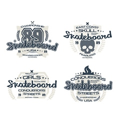 Skateboard emblems for t shirt vector