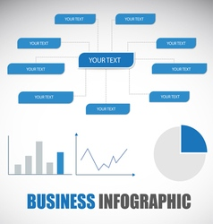 Diagram graph info-graphic template in blue them vector