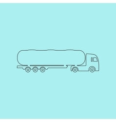 Tank car icon trailer vector