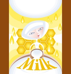 Milkmald honey vector