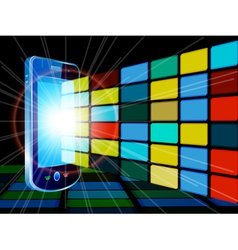 mobile background vector image
