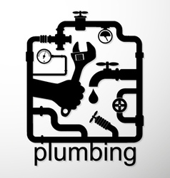 Plumbing repair design vector image