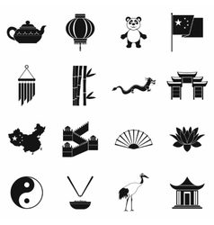 China black simple icons vector