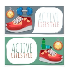 Active lifestyle banners vector