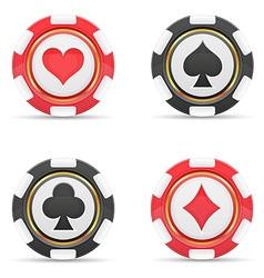 Casino chips 02 vector