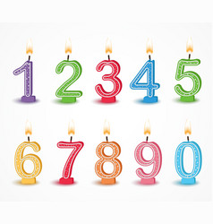 colorful birthday candle number vector image vector image