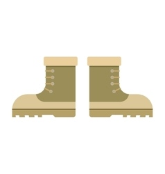 combat military boots vector image