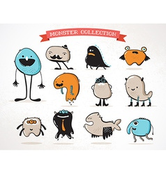 Cute monsters set of vector