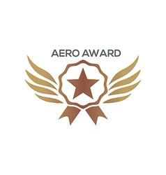 design aero awards star wings icon vector image