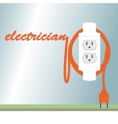 Electric poster vector image