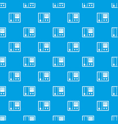 Fire shield pattern seamless blue vector