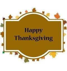 Happy Thanksgiving sticker vector image vector image