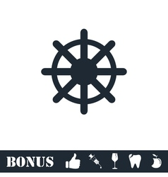 Helm icon flat vector image vector image