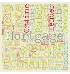 How to find wholesale mortgage lenders text vector