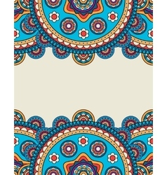 Indian doodle floral borders frame vector