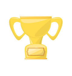 isolated cute trophy vector image vector image