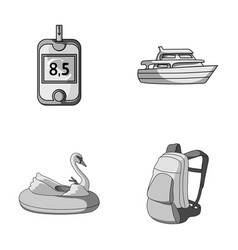 Medicine park and other monochrome icon in vector