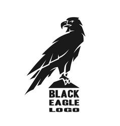monochrome eagle logo vector image vector image