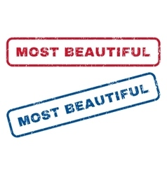 Most beautiful rubber stamps vector