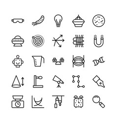Science and technology line icons 16 vector