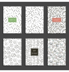Set of retro universal card templates on white vector image vector image