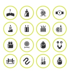Set round icons of cables and wires vector