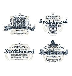 Skateboard emblems for t shirt vector image