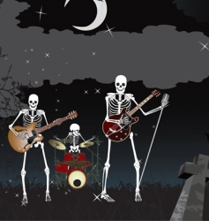 skeleton band vector image