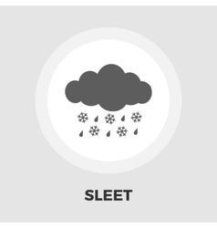 Sleet icon flat vector