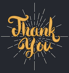 thank you lettering vector image