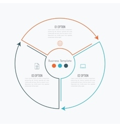 Thin line infographic element vector image