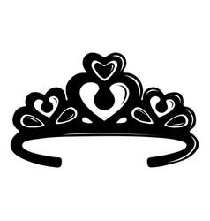 Tiara crown icon simple black style vector