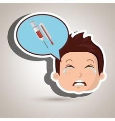 Child cry fear medicine vector