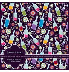 Card with bottles vector
