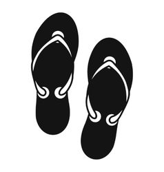 Flip flop sandals icon simple style vector