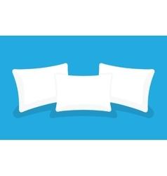 Three white pillows vector