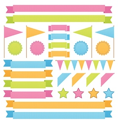 ribbons and flags vector image